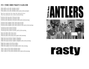 Sault Antlers' Song Book