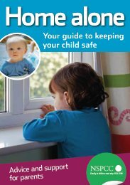 Home alone: your guide to keeping your child safe - nspcc