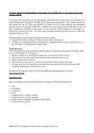 olddm-267578 - Rangitaiki Conservation Area plant species list ...