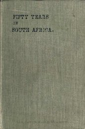 Fifty Years in South Africa