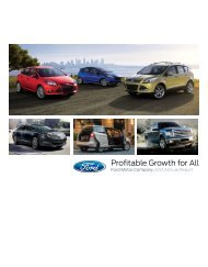 Profitable Growth for All - Ford Motor Company
