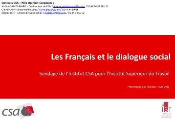 Les Français et le dialogue social