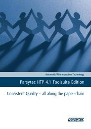 Consistent Quality – all along the paper-chain Parsytec HTP 4.1 ...