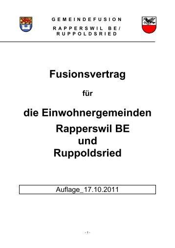 GEMEINDEFUSION RAPPERSWILBE ... - Das bernische Rapperswil