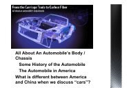 All About An Automobile's Body / Chassis Some History of the ...