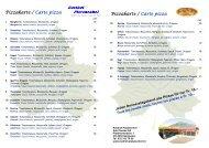 Pizzakarte / Carte pizza - Rasthof - Platanenhof