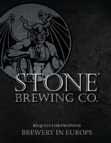 1 August, 2012. - Stone Brewing Co.