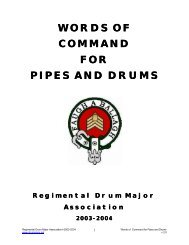 RDMA Words of Command - Regimental Drum Major Association