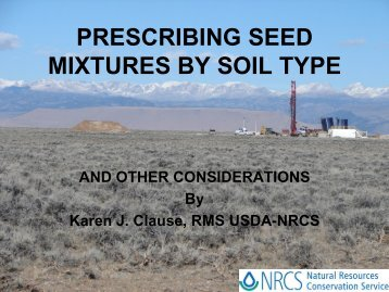 SEEDING MIXTURES - Wyoming