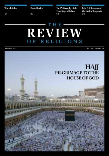 Download November 2011 PDF - The Review of Religions
