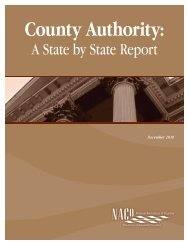 County Authority: A State by State Report - National Association of ...