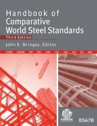 Handbook of Comparative Handbook World Steel Standards