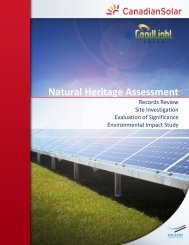 Natural Heritage Assessment - GoodLight Solar Project