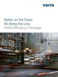 Better on the Road All Along the Line. DIWA Efficiency ... - Voith Turbo