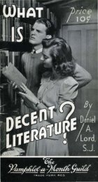 What IS Decent Literature?