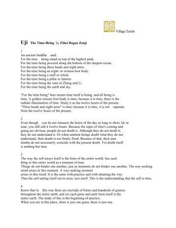 Dogen essay the time being
