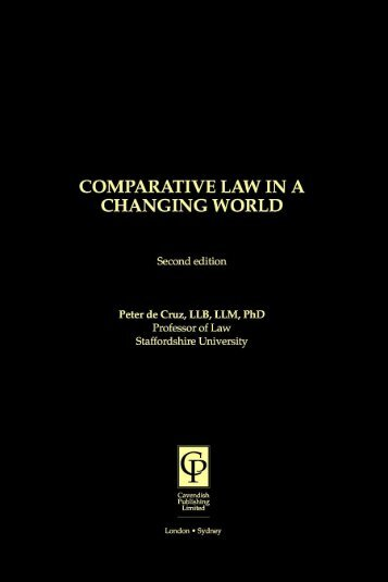 Comparative Law in a Changing World, Second Edition