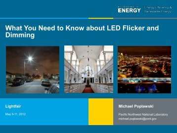 What You Need to Know about LED Flicker and Dimming - EERE