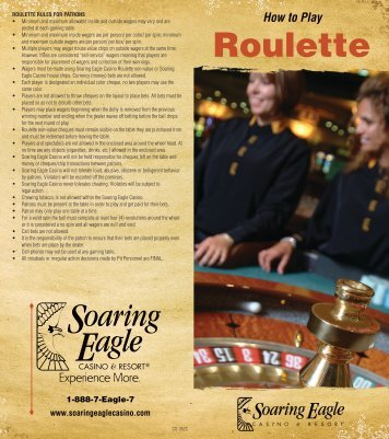 how to play roulette - Soaring Eagle Casino & Resort