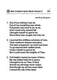 New Creation Hymnbook Volume 2