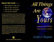 All Things are Yours - New Creation Teaching Ministry