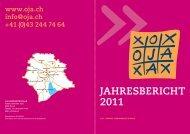 JAHRESBERICHT 2011 - OJA