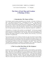The Glory of God, Man and Creation - New Creation Teaching Ministry