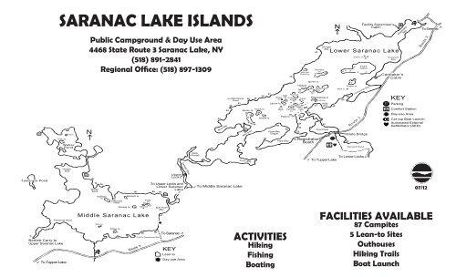 Saranac Lake Islands Campground Map - New York State