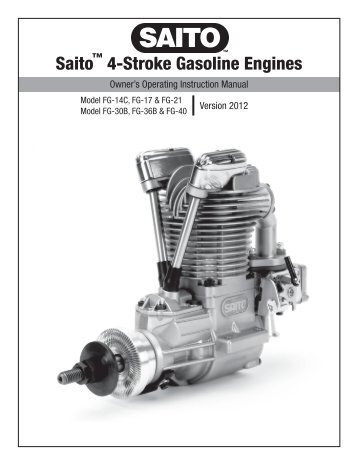 Evolution Glow engines manual