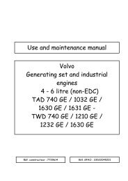 3508, 3512, and 3516 Generator Sets - Maintenance Intervals