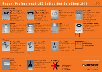 Regent Professional LED Collection EuroShop 2011