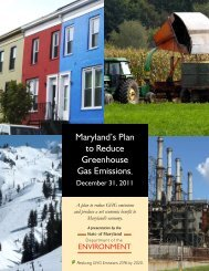 2011 GGRA Draft Plan - Maryland Department of the Environment