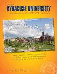 Greetings From - SummerStart - Syracuse University