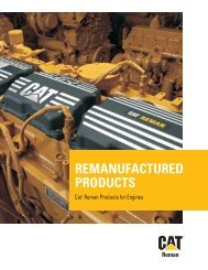 REMANUFACTURED PRODUCTS - Cat Parts