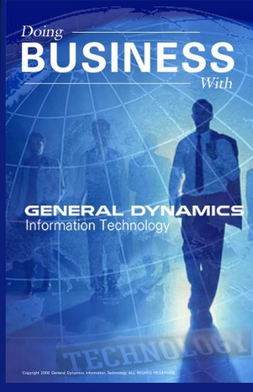 Doing Business Draft2 - General Dynamics Information Technology