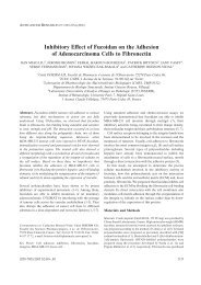 Inhibitory Effect of Fucoidan on the Adhesion of Adenocarcinoma ...