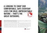 a longing to swap our comfortable, safe everyday lives ... - E-biwak.pl