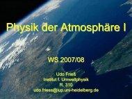 Atmospheric radiation - Institut für Umweltphysik
