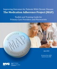 The Medication Adherence Project (MAP) - NYC.gov