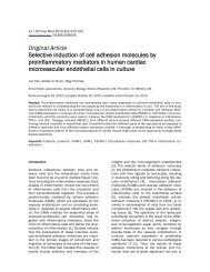 Selective induction of cell adhesion molecules by proinflammatory ...