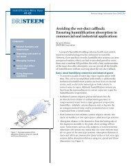Ensuring Humidification Absorption - DRI-STEEM