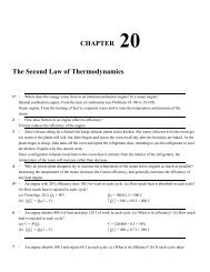 CHAPTER 20 The Second Law of Thermodynamics
