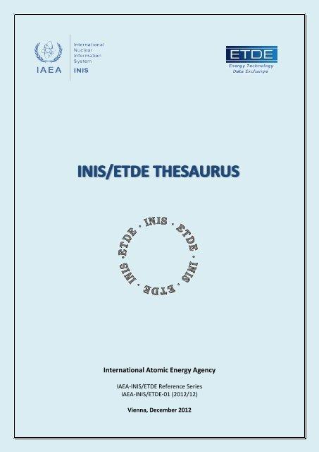 inis/etde thesaurus - IAEA