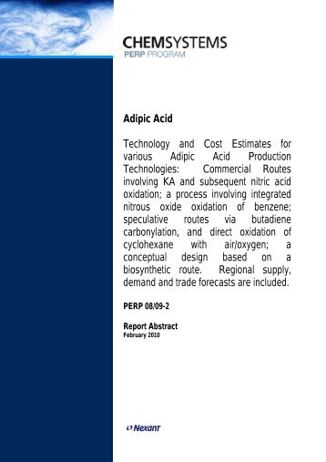 an overview of the use production and effects of adipic acid Learn more about adipic acid acids   natural acids and acidulants  the effect  of alkali hydrolysis was very pronounced for the copolymers rich in α-amino   and is associated with a high production cost, limiting its application in industry.