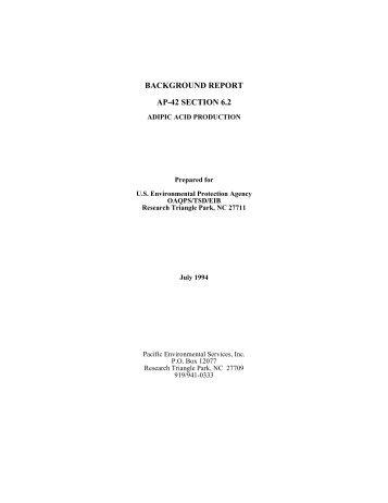 AP42 6.2 Adipic Acid Production Background Report - US ...