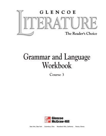 Grammar and Language Workbook - Union-North United School ...