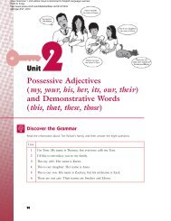 Unit 2: Possessive Adjectives and Demonstrative - The University of ...