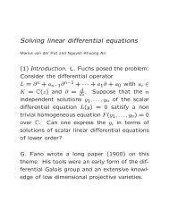 Solving linear differential equations