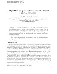 Algorithm for parameterization of rational curves revisited