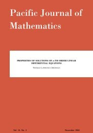 Properties of solutions of n-th order linear differential equations - MSP